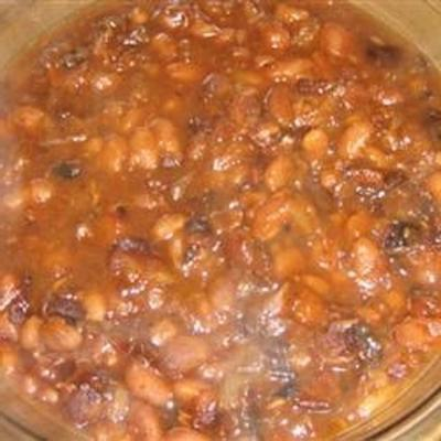 Maple and Ginger Baked Beans