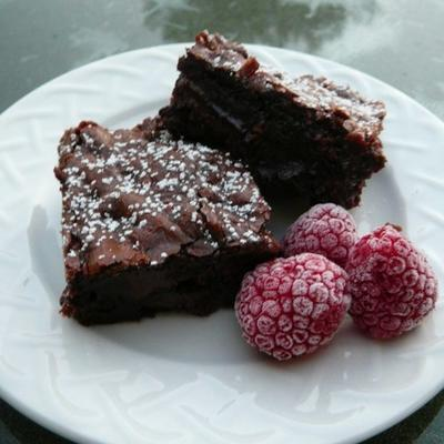 Righteous Raspberry Brownies