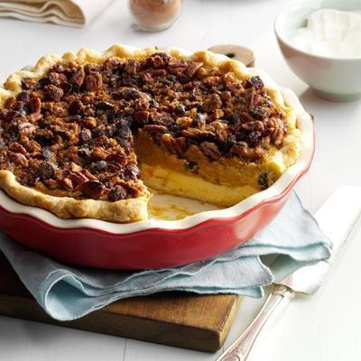 Cranberry Pumpkin Praline Pie