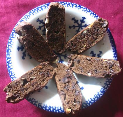 üçlü çikolata bisküvi
