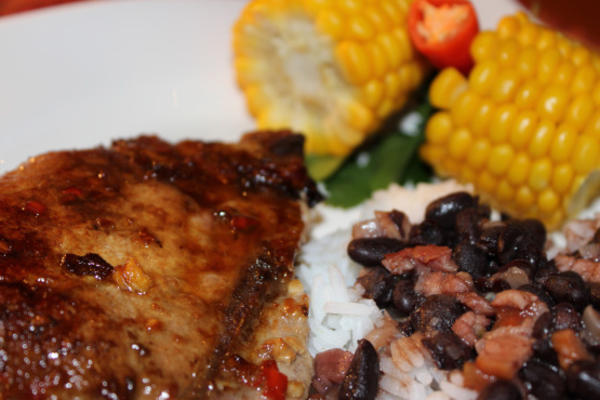 Lime, Chili and Brown Sugar Pork Chops