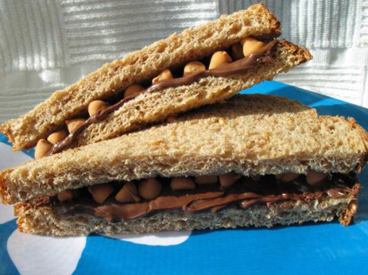 nutella butterscotch sandviç