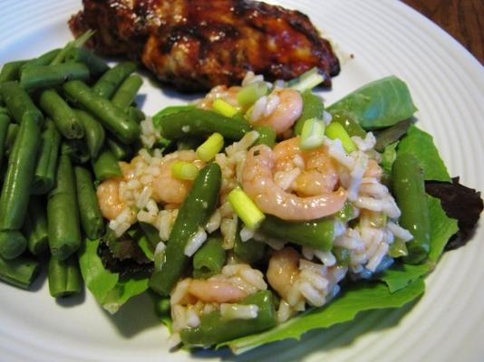 texas karides ve pilav salatası
