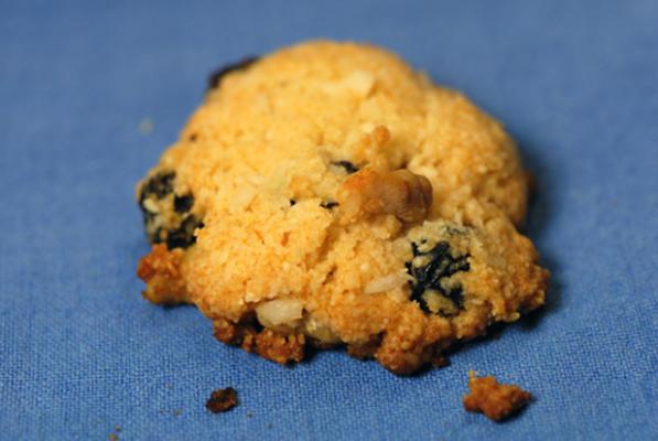 glutensiz hindistancevizi kuru üzüm kurabiyeleri