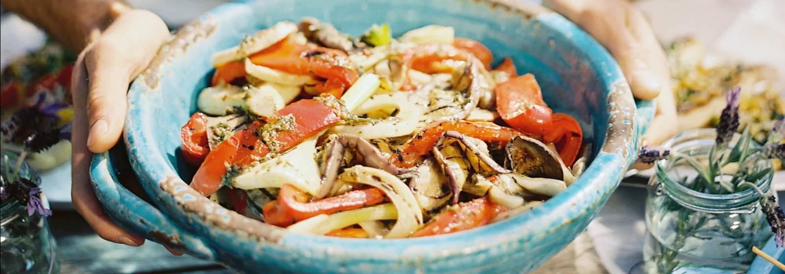 ızgara sebze salatası