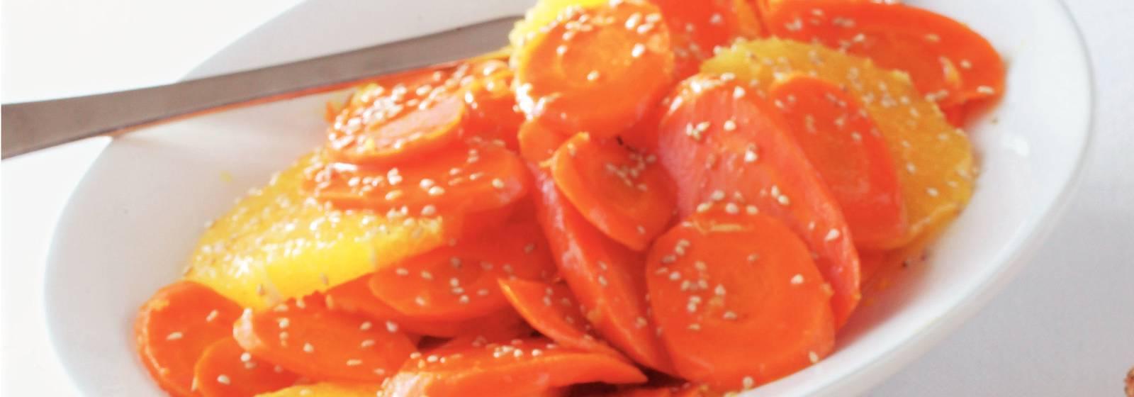 Portakallı şekerlenmiş havuç