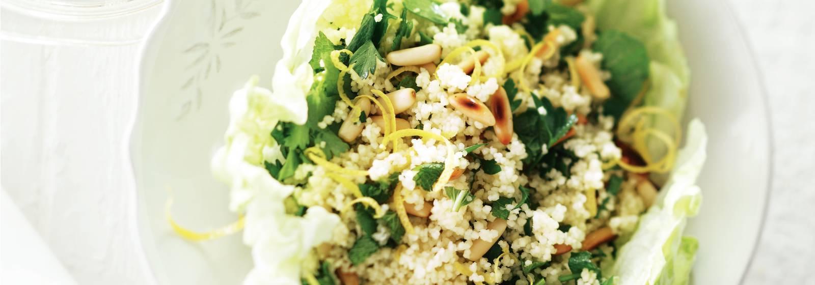 Baharatlı kuskus salatası