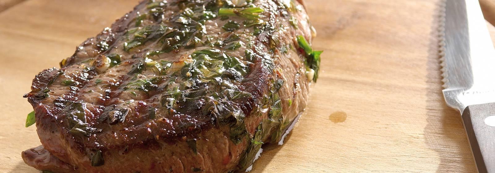 Bitki yağı ile biftek